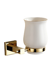 Toothbrush Holders Modern Linen/Polyester Blend   tumbler holder brass gold