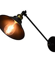 Ac220v-240v 4w e27 привело огни buzz стены железа настенный светильник тупой черный световой индикатор на стене