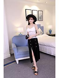 Damen Solide Einfach Ausgehen T-shirt,V-Ausschnitt Ärmellos Modal Dünn