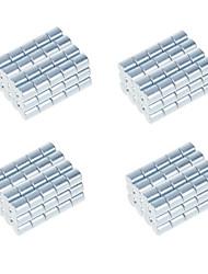 DIY 10*10mm Cylindrical Neodymium NdFeB Magnets(100PCS) Silver