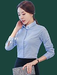 Spring female long-sleeved white shirt wear OL Slim thin section bottoming shirt dress white overalls Korean Fan