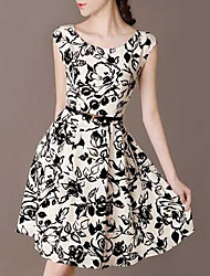 2016 spring women new OL temperament short-sleeved silk dress
