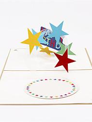 Cartes d'anniversaire Invitations de Fête Pliée Non personnalisés 1 Piece/Set
