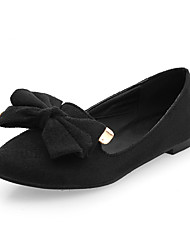 Women's Flats Summer Fall Club Shoes Fleece Office & Career Party & Evening Dress Flat Heel Bowknot
