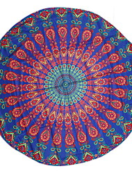 1Pc 150*150Cm Round Beach Towel Table Cloth Chiffon Beach TowelBohemian style Reactive Print High Quality 100% Polyester Towel