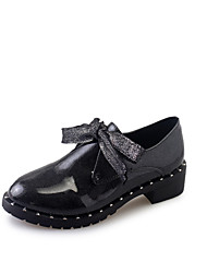 Flats Spring Comfort PU Casual Low Heel Lace-up