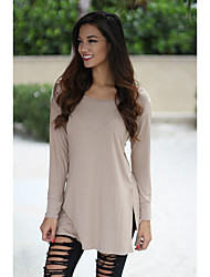 # 3065 foreign trade new openwork lace long-sleeved T-shirt dress