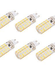 brelong dimmable g9 / e27 6w 80 smd 5730 550-600 lm blanc chaud blanc ampoule led blanche (110v / 220v) 6pcs