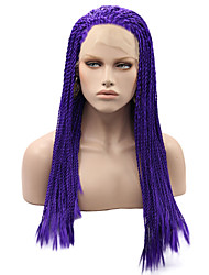 Braided Synthetic Lace Front Wigs Blue Color Hair Heat Resistant Synthetic Fiber Hair Lace Wigs
