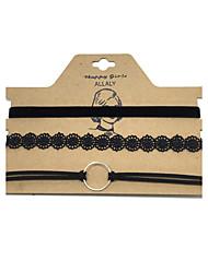 Жен. Ожерелья-бархатки Бижутерия Круглой формы Кожа Сплав В виде подвески Мода Euramerican бижутерия Бижутерия Назначение Повседневные
