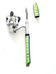 Fonoun Pen Fishing Rod Fly Rod Ice Fishing Rod Aluminium 100M Ice Fishing Rod & Reel Combos with 100m Fishing Line FT98