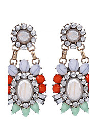 2017 High Quality Fashion Bohemia Pendant Earrings Colorful Crystal Gem Water Drop Earrings For Women boucle doreille femme