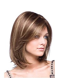 Fashion Brown To Blonde Ombre Color Straight Wigs For Afro European Synthetic Wig