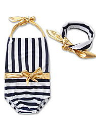 Girls Stripe Swimwear Baby Kids Camisole Swimming Clothing Girls One-Piece Swimsuit Clothes