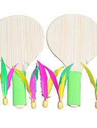 Raquetes para Badminton volantes de penas Elasticidade Alta Durabilidade Madeira 2 Pças. para Interior Esportes de Lazer