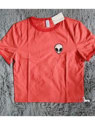 Aliexpress ebay nouveau t-shirt à manches courtes rouge à manches courtes t-shirt à manches courtes modèle étranger