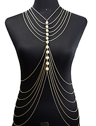 Women's Body Jewelry Body Chain Fashion Necklace Belly Chain Bohemian Imitation Pearl Alloy Geometric For Party Special Occasion Beach Bikini Jewelry