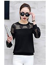 2017 новой кружево рубашки шифона рубашка женщины корейский дикая рубашка с длинными рукавами полого короткого параграф небольшой рубашка