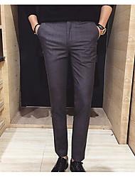 Herren Einfach Mittlere Hüfthöhe Dehnbar Jeans Schlank Skinny Hose einfarbig