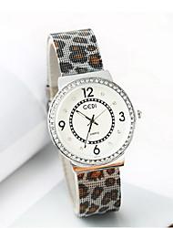 Женские Модные часы Имитационная Четырехугольник Часы Японский кварц Защита от влаги сплав Группа Леопард Cool Повседневная Люкс