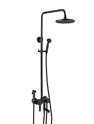Antique Centerset Rain Shower with Bidet Shower Single Handles Three Holes for  Oil-rubbed Bronze  Shower Faucet