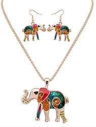 Jewelry Set Jewelry Unique Design Logo Style Animal Design Cute Style Handmade Bohemian Statement Jewelry DIY Chrome Animal Shape