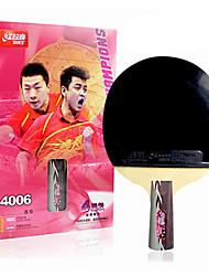 4 étoiles Tennis de table Raquettes Ping Pang Bois Manche Court Boutons Intérieur Utilisation Exercice Sport de détente-#