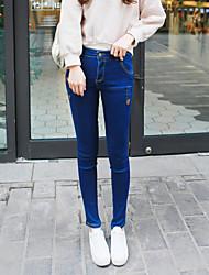 знак +2017 пружинные модели значительно тонкие талии джинсы женские ноги