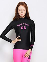 Esportivo Mulheres Impermeável Respirável Secagem Rápida Design Anatômico Náilon Chinês Fato de Mergulho Manga Comprida Blusas-Natação