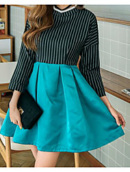 Sign ZHENG star with spring and dark green long-sleeved dress Slim A word skirt tutu woman