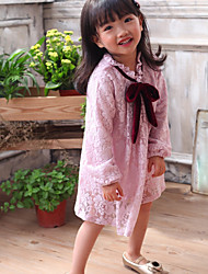 Girl's Going out Casual/Daily Party/Solid Floral Embroidered DressPolyester Blended Cotton All Seasons Sleeveless