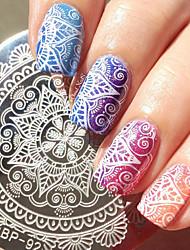 1 pc rond 5.5cm nail art timbre plaque d'estampage à ongles modèle