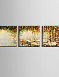 Пейзаж Цветочные мотивы/ботанический Modern,3 панели Холст Квадратная Печать Искусство Декор стены For Украшение дома