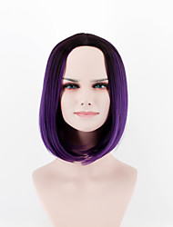 Europe and the United States new fashion wig short hair  breathable wig black purple omber  Synthetic Fiber wig