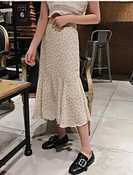 Custom necessary with small floral chiffon skirt umbrella Nett