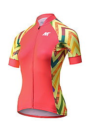 MYSENLAN® Cycling Jersey Women's Short Sleeve Bike Breathable Quick Dry Jersey Polyester Fashion Summer Cycling/Bike