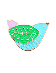 Fachina Cute Bird Flying Enamel Brooch