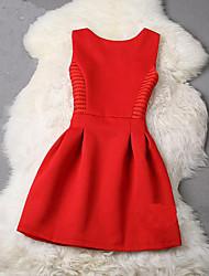 спотовые 2015 лето одежда женщин&# 39, S моды сплошного цвета без рукавов платья принцессы платья