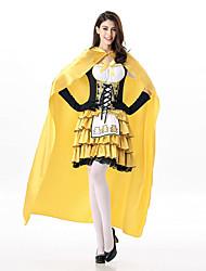 Costumes de Cosplay Princesse Fête / Célébration Déguisement d'Halloween Couleur Pleine Robe Gants Manteau Fabrication CAP Chapeau