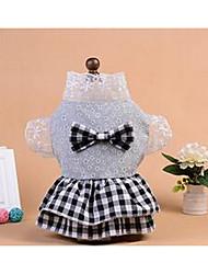 Chien Robe Vêtements pour Chien Mignon Décontracté / Quotidien Princesse Gris Rose