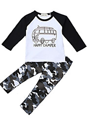Baby Boys Going out Casual / Camouflage Print Geometric Sets Cotton  All Seasons Long Sleeve Clothing Kids Set