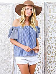 Ebay aliexpress Explosion Modelle des Außenhandels in Europa und Amerika Frauen&# 39; s Boot Hals trägerlosen sexy Kurzarm T-Shirt