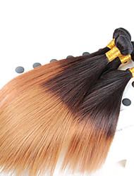 12-26inch 1b/27# Ombre Mix length Brazilian Virgin Hair Straight