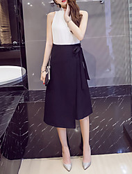 Korean Fan was thin skirt high waist skirt put on a large irregular lace A word skirts long section of large size women