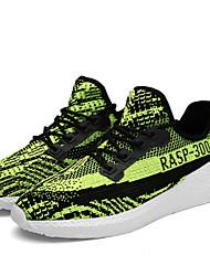 Masculino-Tênis-Conforto Solados com Luzes-Rasteiro-Preto Laranja Cinzento Verde-Tule-Ar-Livre Casual Para Esporte