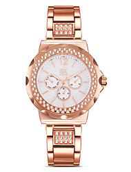 SK Mulheres Relógio de Moda Simulado Diamante Relógio Chinês Quartzo Impermeável Resistente ao Choque imitação de diamante Lega Banda