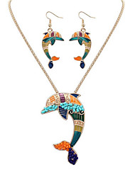Jewelry Set Jewelry Unique Design Logo Style Dangling Style Vintage Bohemian Punk Stretch Luxury Resin Chrome Animal Shape