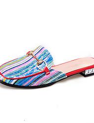 Women's Slippers & Flip-Flops Summer Slingback Comfort Fabric Dress Casual Low Heel Walking