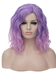 European and American fashion daily small and pure and fresh Pink purple gradient noodles party cos wig 1887