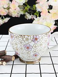 Purple Plum Flower High Temperature Porcelain Tea Cup/Coffee Mug 330 ml